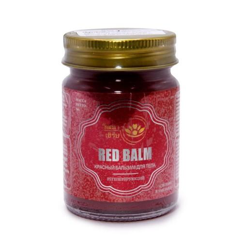 Бальзам Wattana Herb Красный для тела регенерирующий 50гр Таиланд