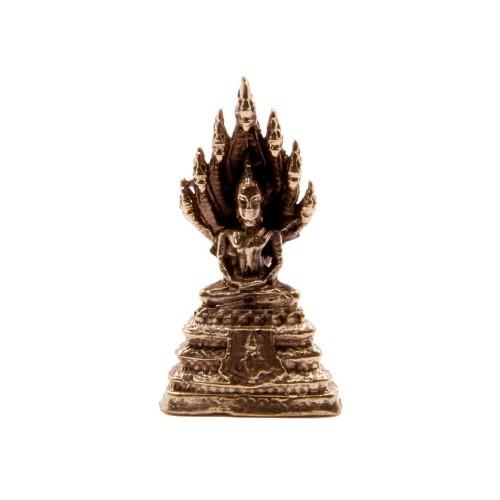 Фигурка Будда на цветке лотоса 3.5 х1.5 см бронза Таиланд