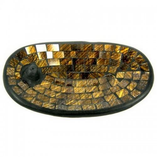 Подставка для благовоний овал 13х21 см керамика, стекло
