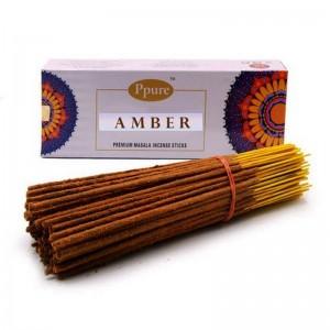 Благовония Ppure Amber - Поглощает отрицательную энергию и дарует Фортуну и Удачу поштучно