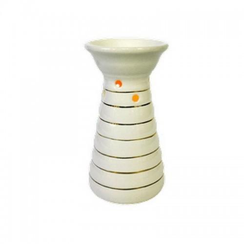 Аромалампа Тура 14 см белая с серебром керамика