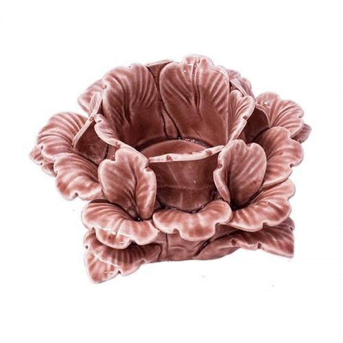 Подсвечник Глория 13х8 см розовый