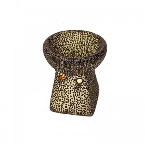 Аромалампа Мозайка керамика черная 10 см