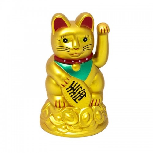 Манэки-нэко 11 см золотой