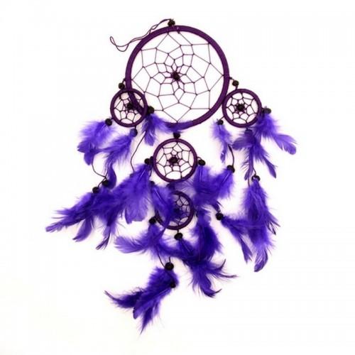 Ловушка снов Фиолетовая Защита дома от негатива 12см-47см Индонезия