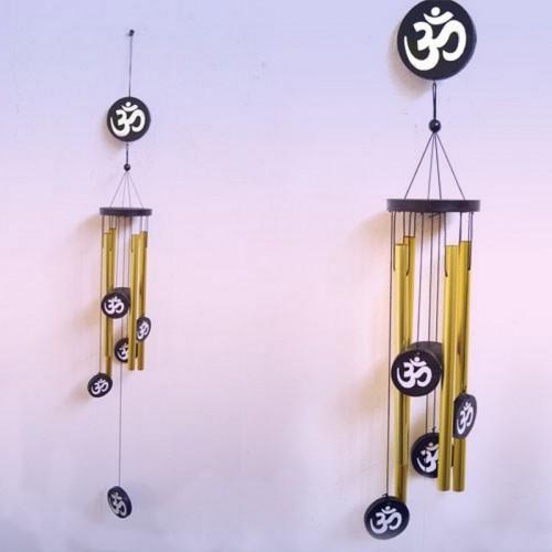 Музыка ветра с мантрой Ом GOLD 4 палочки h-палочки 24см d-деревяшки 9см 70cm