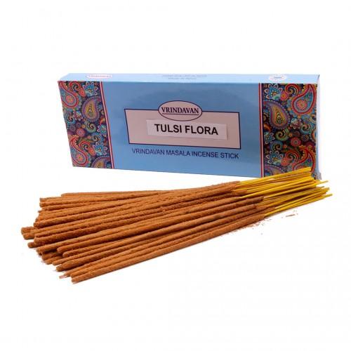 Благовония масала TULSI FLORA EXTRA Цветы Туласи Индия поштучно
