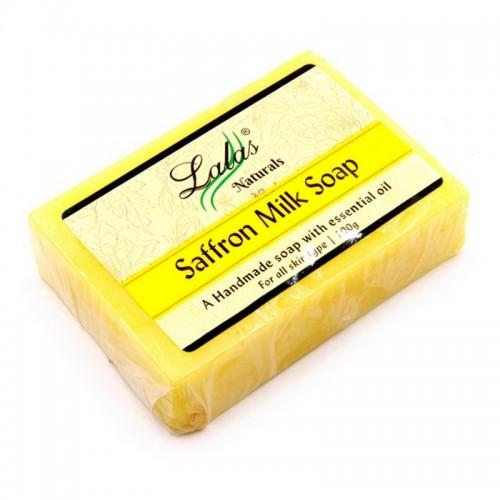 Мыло ручной работы Lalas Saffron Milk Шафран и Молоко 100 г Индия