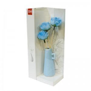 Ароматизатор Букет роз в вазе с аромамаслом Лилия 18 см голубой