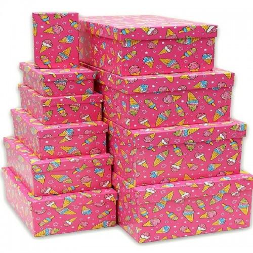 Подарочная коробка Мороженое 17x11x6 см картон